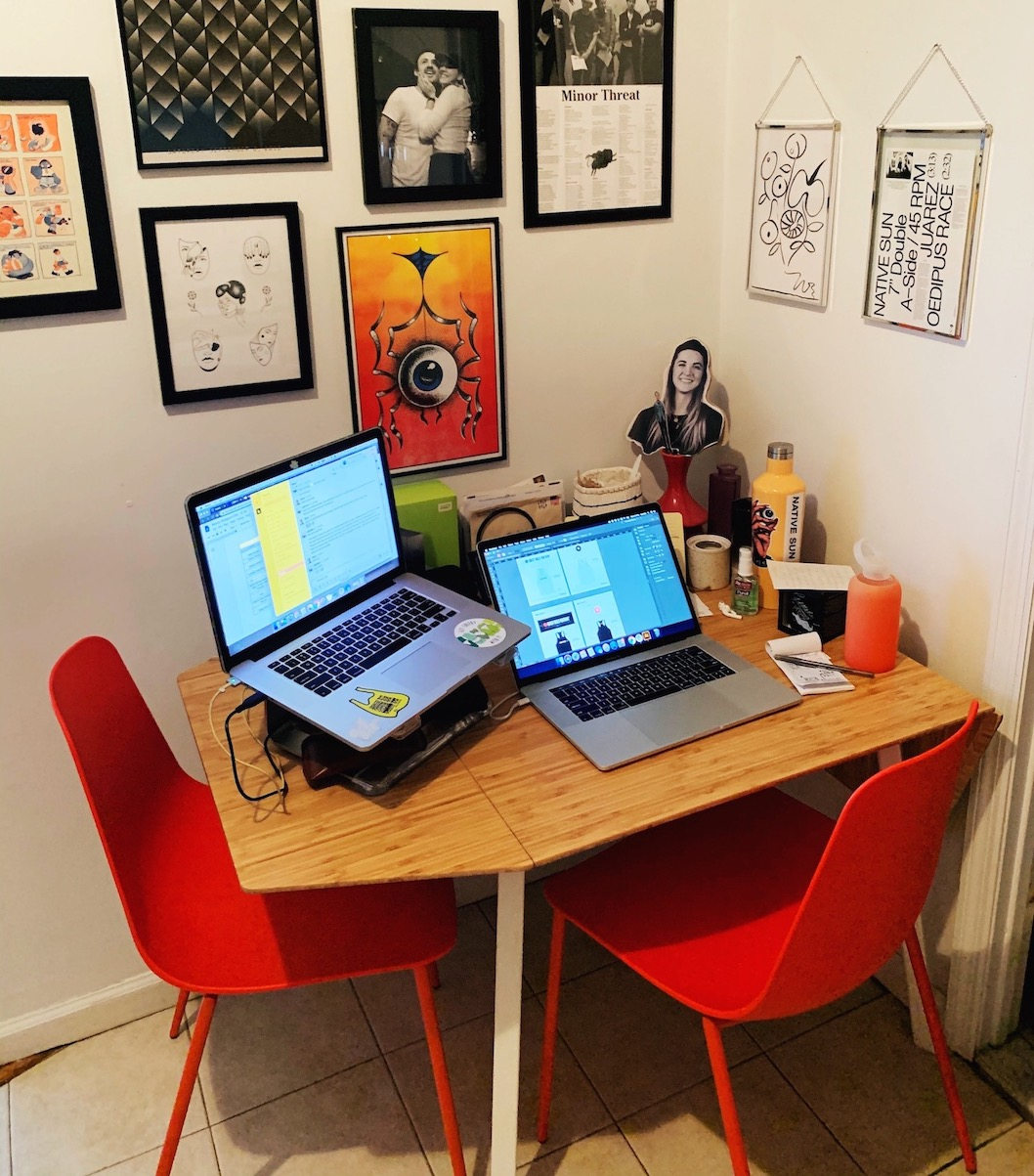 Bre's work station
